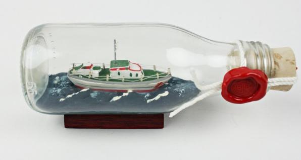 Seenotrettungskreuzer SAR Schiff Buddelschiff 0, 1 Liter 13x5 cm Flaschenschif...