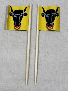 Party-Picker Flagge Uri Kanton Schweiz Papierfähnchen in Spitzenqualität 50 S...