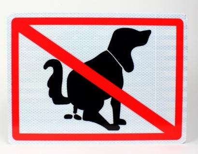 Aluminium Schild reflektierend Hier kein Hundeklo 33x24 cm Stärke 2mm