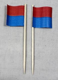 Party-Picker Flagge Tessin Kanton Schweiz Papierfähnchen in Spitzenqualität 5...