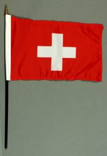 Tischflagge Schweiz 15x25 cm BASIC optional mit Tischflaggenständer