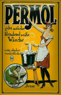 Blechschild Permol Waschpulver Schild retro Werbeschild Nostalgieschild