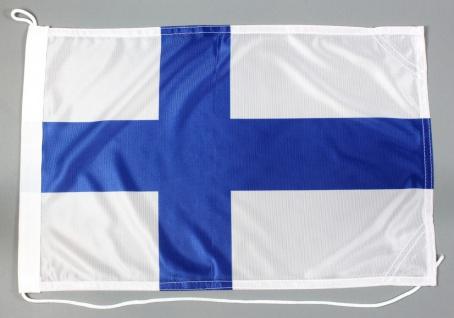 Bootsflagge Finnland 30x45 cm Motorradflagge Bootsfahne