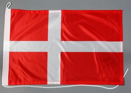 Bootsflagge Dänemark 30x45 cm Motorradflagge Bootsfahne