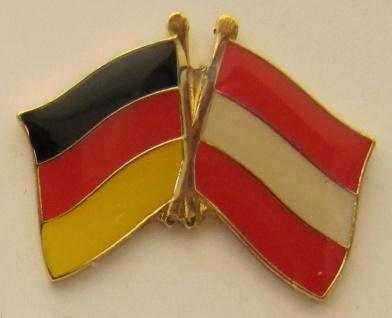 Oesterreich / Deutschland Freundschafts Pin Anstecker Flagge Fahne Nationalfl...