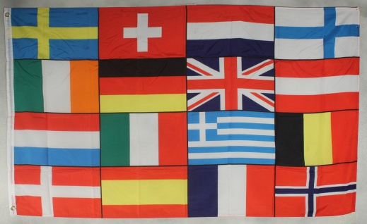 Flagge Fahne : Europa / 16 Staaten