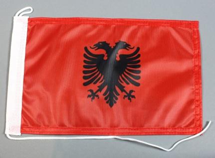 Bootsflagge : Albanien 30x20 cm Motorradflagge