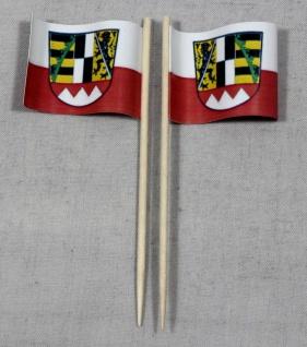 Party-Picker Flagge Oberfranken Papierfähnchen in Spitzenqualität 50 Stück Be...