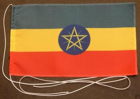 Tischflagge Aethiopien Äthiopien 25x15 cm optional mit Holz- oder Chromstände...