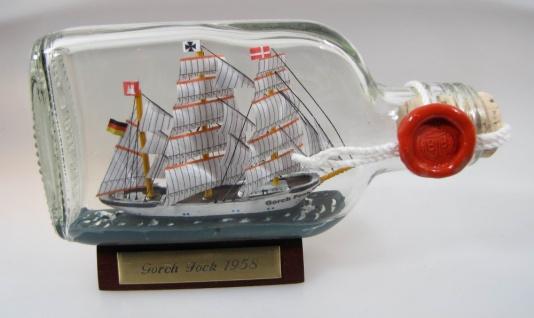 Gorch Fock Buddelschiff Flachmann 0, 1 Liter ca. 14x7 cm Buddelschiff Flaschen...