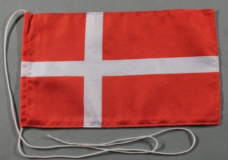 Tischflagge Dänemark 25x15 cm optional mit Holz- oder Chromständer Tischfahne...