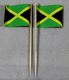Party-Picker Flagge Jamaika Papierfähnchen in Spitzenqualität 50 Stück Beutel...