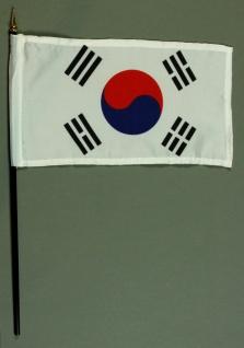 Tischflagge Südkorea 15x25 cm BASIC optional mit Tischflaggenständer