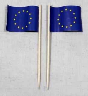 Party-Picker Flagge Europa Europaflagge Papierfähnchen in Spitzenqualität 50 ...
