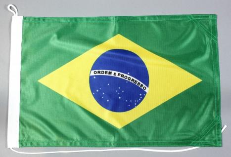 Bootsflagge Brasilien 30x45 cm Motorradflagge Bootsfahne