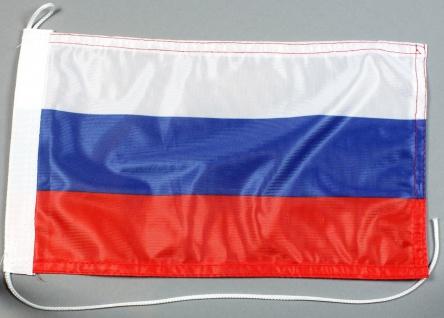 Bootsflagge : Russland 30x20 cm Motorradflagge