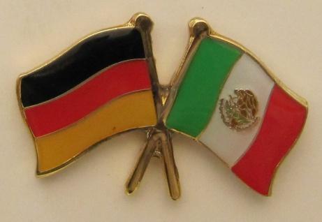 Mexiko / Deutschland Freundschafts Pin Anstecker Flagge Fahne Nationalflagge