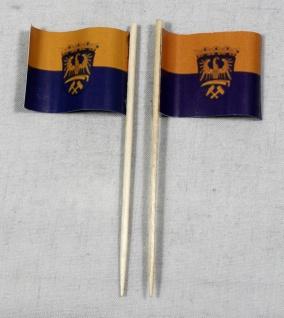 Party-Picker Flagge Oberschlesien Papierfähnchen in Spitzenqualität 50 Stück ...