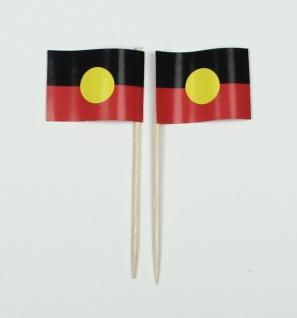 Party-Picker Flagge Aborigines Australien Papierfähnchen in Spitzenqualität 5...