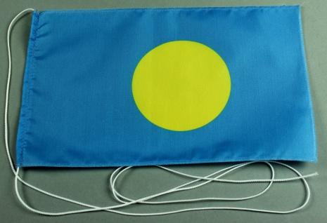 Tischflagge Palau 25x15 cm optional mit Holz- oder Chromständer Tischfahne Ti...