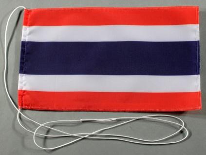 Tischflagge Thailand 25x15 cm optional mit Holz- oder Chromständer Tischfahne...
