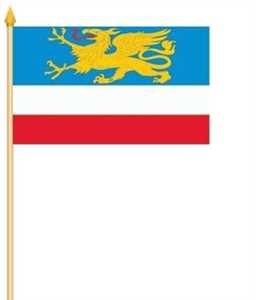 Stockflagge Rostock 30x45cm