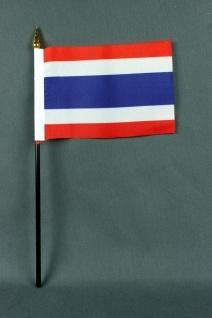 Kleine Tischflagge Thailand 10x15 cm optional mit Tischfähnchenständer