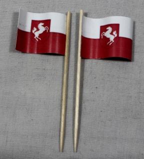 Party-Picker Flagge Westfalen Papierfähnchen in Spitzenqualität 50 Stück Beutel