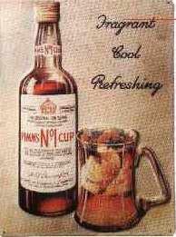 Blechschild Pimm's retro Schild Nostalgie Werbeschild