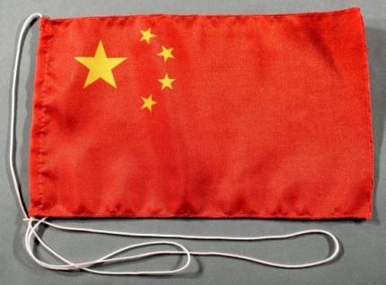 Tischflagge China 25x15 cm optional mit Holz- oder Chromständer Tischfahne Ti...