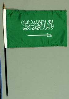 Tischflagge Saudi Arabien 15x25 cm BASIC optional mit Tischflaggenständer
