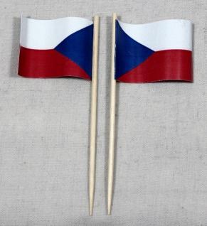 Party-Picker Flagge Tschechien Papierfähnchen in Spitzenqualität 50 Stück Beutel