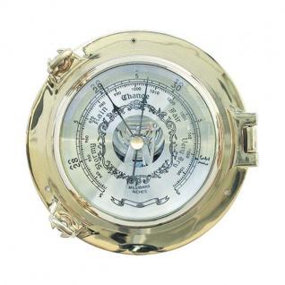 Barometer im Bullauge 14cm Messing