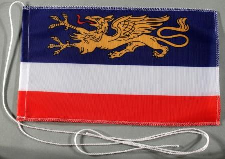 Tischflagge Rostock Stadtflagge 25x15 cm optional mit Holz- oder Chromständer...