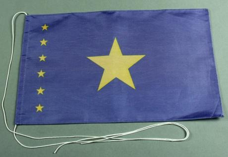 Tischflagge Kongo Kinshasa 25x15 cm optional mit Holz- oder Chromständer Tisc...