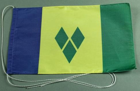 Tischflagge Sankt Vincent 25x15 cm optional mit Holz- oder Chromständer Tisch...