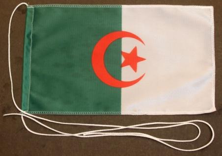 Tischflagge Algerien 25x15 cm optional mit Holz- oder Chromständer Tischfahne...