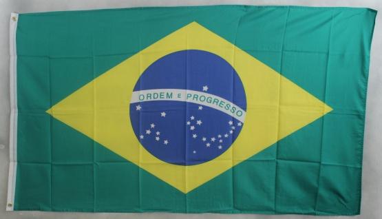 Brasilien Flagge Großformat 250 x 150 cm wetterfest
