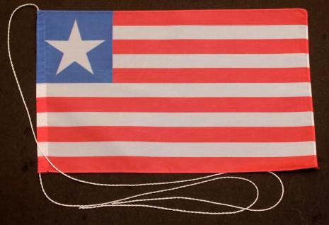 Tischflagge Liberia 25x15 cm optional mit Holz- oder Chromständer Tischfahne ...
