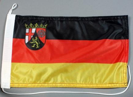 Bootsflagge : Rheinland Pfalz 30x20 cm Motorradflagge