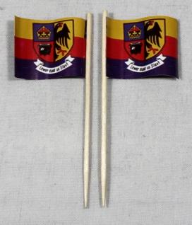 Party-Picker Flagge Nordfriesland Papierfähnchen in Spitzenqualität 50 Stück ...