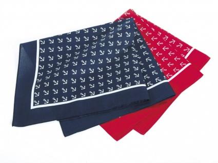 Vierecktuch Anker 54x54 cm Halstuch rot mit Mengenrabatt - Vorschau 2