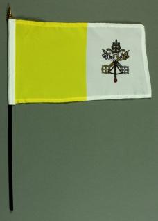 Tischflagge Vatikan Papst 25x15 cm BASIC optional mit Tischflaggenständer