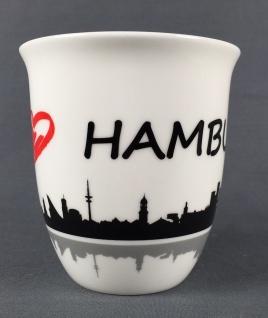 I love Hamburg Kaffeebecher Skyline 400ml Souvenir Kaffeetasse Kaffee Becher ... - Vorschau 3