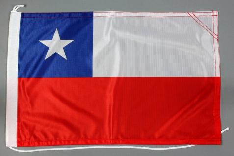 Bootsflagge Chile 30x45 cm Motorradflagge Bootsfahne