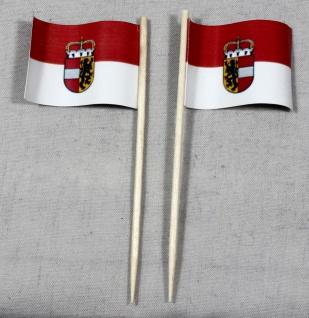 Party-Picker Flagge Salzburg Österreich Papierfähnchen in Spitzenqualität 50 ...