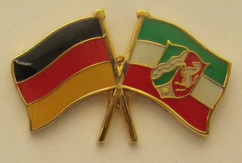 Nordrhein Westfalen / Deutschland Freundschafts Pin Anstecker Flagge Fahne Na...