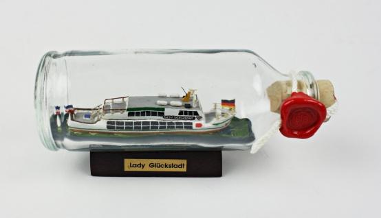 Lady Glückstadt Schiff Buddelschiff 0, 1 Liter 13x5, 5 cm Flaschenschiff