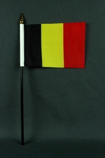 Kleine Tischflagge Belgien 10x15 cm optional mit Tischfähnchenständer