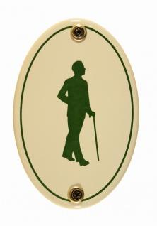 Emaille Türschild Piktogramm Herren WC Toilette oval Kloschild